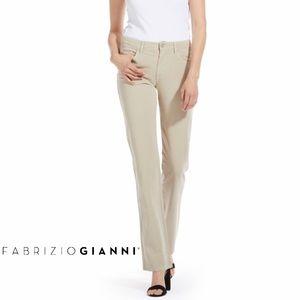 Fabrizio Gianni Aquamarine Cotton Twill Jeans